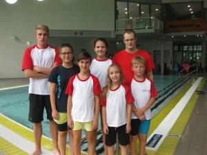 hinten von links: Alexander Demm, Leonie Darscht, Sascha Nuhn- vorne von links: Laura Jentsch, Julia Darscht, Marina Schmoll, Maxim Fern. Es fehlt: Julia Weiffenbach